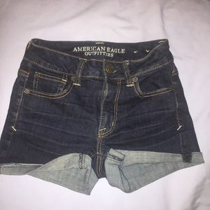 American Eagle High Rise Jean Shorts